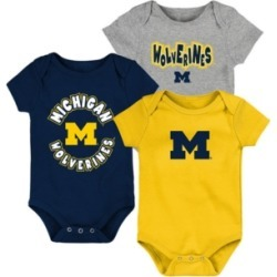 Outerstuff Baby Michigan Wolverines Everyday Fan 3 Piece Creeper Set found on Bargain Bro India from Macy's for $20.00