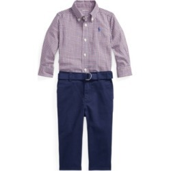Ralph Lauren Baby Boys Shirt, Belt and Pant Set found on Bargain Bro Philippines from Macy's for $59.50