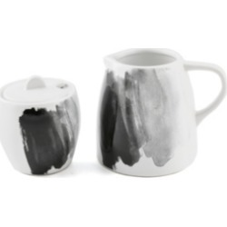Thirstystone Espresso Ceramic Cream & Sugar Set