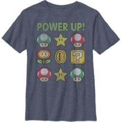 Fifth Sun Nintendo Big Boy's Super Mario Power Up Items Vintage-Like Short Sleeve T-Shirt