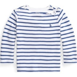 Ralph Lauren Baby Boys Striped Interlock Tee found on Bargain Bro Philippines from Macy's for $25.00