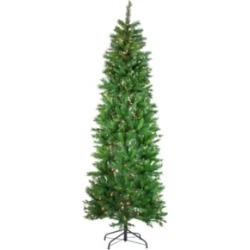 Northlight 7.5' Pre-Lit Stillwater Spruce Pencil Artificial Christmas Tree - Clear Lights