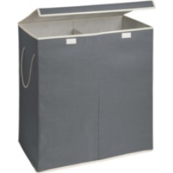 Honey Can Do 2-Compartment Sorting Hamper, Gray