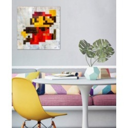 "iCanvas ""Post Modern Mario"" by Francis Ward Gallery-Wrapped Canvas Print (26 x 26 x 0.75)"