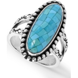 American West Mosaic Turquoise Ring in Sterling Silver