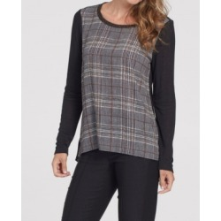 Tribal Women's Long Sleeve Woven Front Top found on Bargain Bro from Macy's for USD $54.72