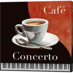 Cafe Concerto By Skip Teller Canvas Art
