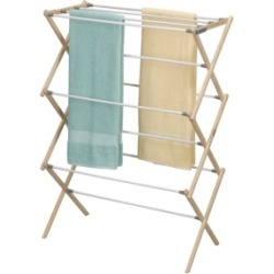 Household Essentials Pine Wood X-Frame Drying Rack