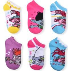 Planet Sox Little & Big Girls 6-Pack Trolls Socks