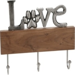 Mind Reader Wall Mount 'Love' Key Organizer For Entryway and Kitchen