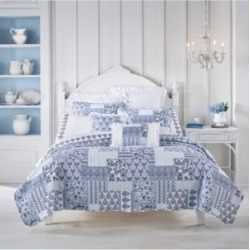 Tessa Navy Full/Queen 3pc. Quilt Set Bedding found on Bargain Bro Philippines from Macy's for $220.00