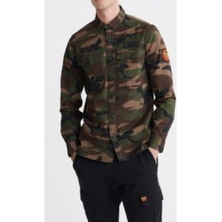 Superdry Men's Core Military-Inspired Patched Long Sleeved Shirt found on Bargain Bro Philippines from Macy's for $69.95