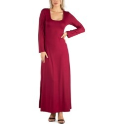 24seven Comfort Apparel Women's Long Sleeve T-Shirt Maxi Dress found on MODAPINS from Macy's for USD $45.99
