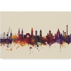 """Michael Tompsett Helsinki Finland Skyline Iii Canvas Art - 37"""" x 49"""""""