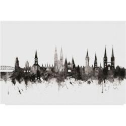 Michael Tompsett Lubeck Germany Skyline Black White Canvas Art - 20