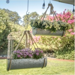 Vip Home & Garden 2-Piece Galvanized Metal Hanging Planters found on Bargain Bro Philippines from Macy's for $234.99