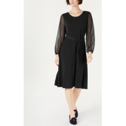 Charter Club Sheer-Sleeve Midi Dress, Created for Macy's found on Bargain Bro India from Macys CA for $62.48