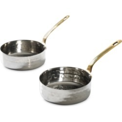 Cravings by Chrissy Teigen Mini Frying Pan 2-Pc. Set in Hammered Stainless Steel