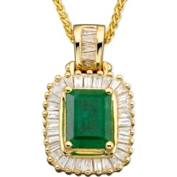 Brasilica by Effy Emerald (1-3/8 ct. t.w.) and Diamond (1/2 ct. t.w.) in 14k Gold found on Bargain Bro India from Macy's Australia for $4285.63