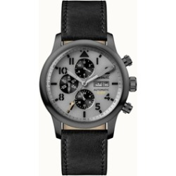 Hatton Automatic Chronograph with Grey Ip Stainless Steel Case, Grey Dial and Grey Leather Strap
