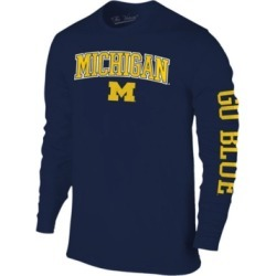 Colosseum Men's Michigan Wolverines Midsize Slogan Long Sleeve T-Shirt found on Bargain Bro India from Macy's for $28.00