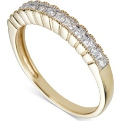 Diamond Scalloped Band (1/5 ct. t.w.) in 14k Gold found on Bargain Bro India from Macy's for $652.05