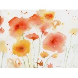 Sheila Golde Orange Yellow Canvas Art - 15.5