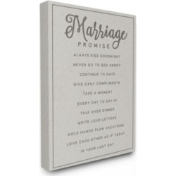 """Stupell Industries Marriage Promise Canvas Wall Art, 24"""" x 30"""""""