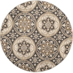 Safavieh Lyndhurst Light Gray and Beige 8' x 8' Round Area Rug found on Bargain Bro India from Macy's for $256.00