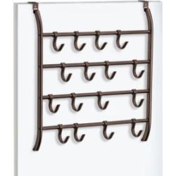 Lynk Over Door 16 Hook Organizer Rack