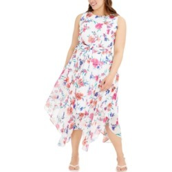 Calvin Klein Plus Size Floral-Print Midi Dress found on Bargain Bro India from Macy's for $92.99