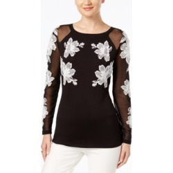 Inc Embroidered Illusion Top, Created for Macy's found on Bargain Bro Philippines from Macy's Australia for $59.02