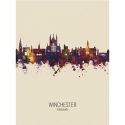 Michael Tompsett Winchester England Skyline Portrait Iii Canvas Art - 27