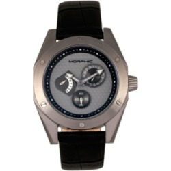 Morphic M46 Series, Black Case, Charcoal Leather Band Men's Watch w/Date, 44mm found on Bargain Bro India from Macy's Australia for $338.91