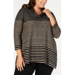 Jpr Plus Size Striped Cowl-Neck Tunic found on Bargain Bro India from Macys CA for $24.07