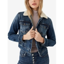 Women's Shrunken Trucker With Sherpa Collar found on Bargain Bro India from Macy's for $118.99