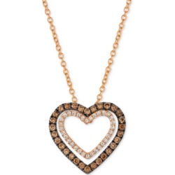 Le Vian Chocolatier Diamond Heart Pendant Necklace (1/3 ct. t.w.) in 14k Rose Gold found on Bargain Bro India from Macy's for $942.50