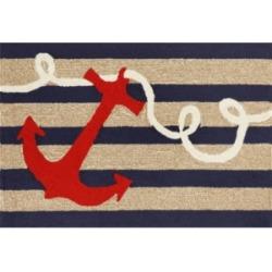 """Liora Manne Frontporch Anchor Blue 1'8"""" x 2'6"""" Area Rug"""