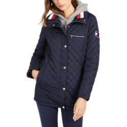 Tommy Hilfiger Hooded Quilted Jacket found on MODAPINS from Macy's for USD $80.00