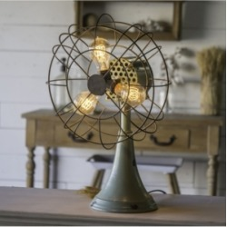 Vip Home & Garden Light Metal Triple Light Fan