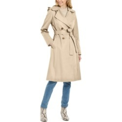 Via Spiga Double-Breasted Trench Coat found on MODAPINS from Macy's for USD $99.99
