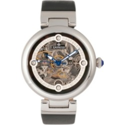 Empress Adelaide Automatic Black Leather Watch 38mm found on Bargain Bro India from Macy's for $227.99