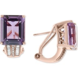 Effy Amethyst (7-3/4 ct. t.w.) & Diamond (1/6 ct. t.w.) in 14k Rose Gold(Also Available In Citrine and Green Quartz)