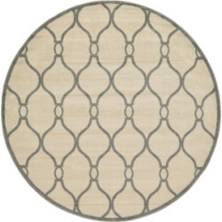 Bridgeport Home Arbor Arb6 Ivory 8' x 8' Round Area Rug found on Bargain Bro India from Macy's for $189.50