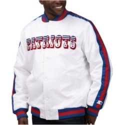 Starter Men's New England Patriots The D-Line Starter Satin Jacket