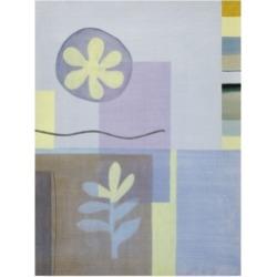 Pablo Esteban Leaf and Flower in Blue Canvas Art - 27