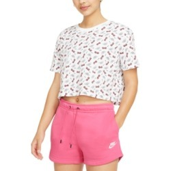 Nike Women's Cotton Printed Cropped T-Shirt found on Bargain Bro from Macy's for USD $10.59