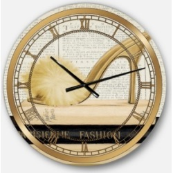 Designart Posh and Luxe Oversized Metal Wall Clock found on Bargain Bro Philippines from Macy's Australia for $194.05