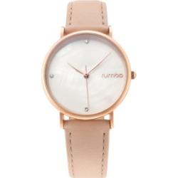 RumbaTime Lafayette Genuine Leather Strap Watch