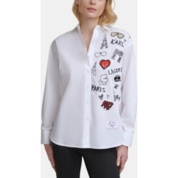 Karl Lagerfeld Paris Iconic Motif Shirt found on MODAPINS from Macy's for USD $89.50